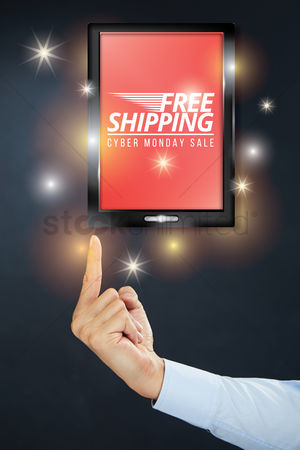 Sparkle : Finger pointing at cyber monday sale