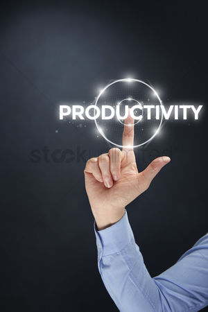 Productivity : Finger pointing at digital text productivity