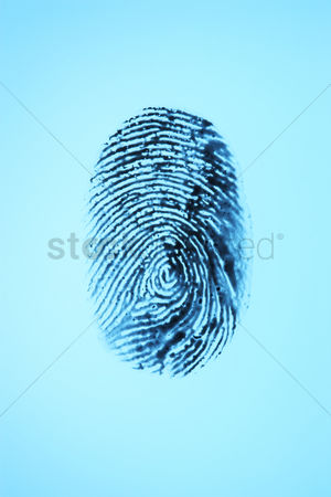 Blue background : Fingerprint on blue background