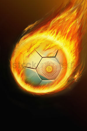 Nationality : Flaming argentina soccer ball