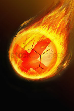 Nationality : Flaming england soccer ball