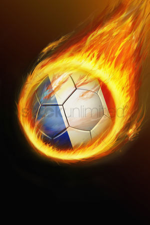 Nationality : Flaming france soccer ball