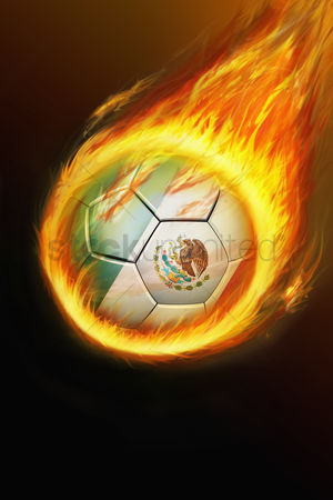 Nationality : Flaming mexico soccer ball