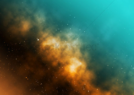 Creativity : Galaxy background design