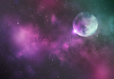 Beautiful : Galaxy background design