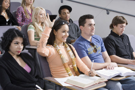 University : Group of university students in lecture hall