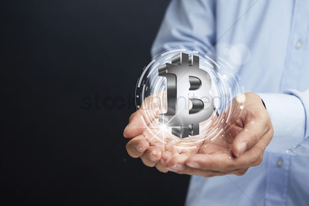 1943005 Bitcoin Hand Gesture With Currency Symbol