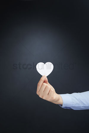 Heart shapes : Hand holding a heart