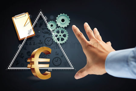 Try : Hand reaching out for euro currency symbol