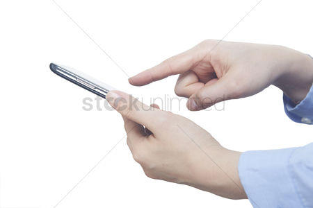 Conceptual : Hands using a smartphone