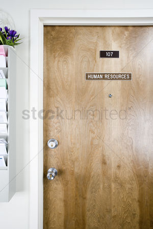 Interior : Human resources office door
