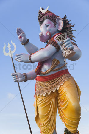 God : Idol of lord ganesha representing lord shiva  mumbai  maharashtra  india