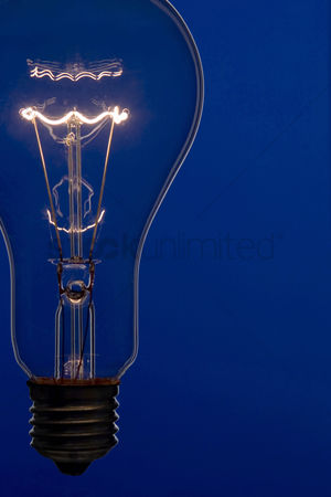 Conceptual : Illuminated light bulb