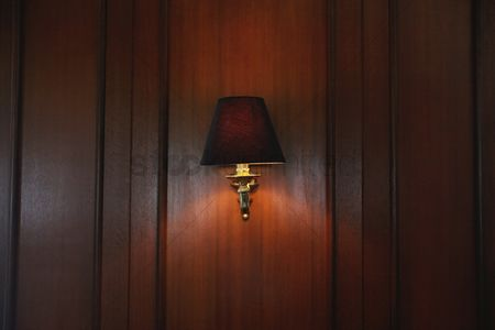 Free lamp shade stock vectors stockunlimited 1864985 lamp shade illuminated wall lamp in a hotel mozeypictures Choice Image