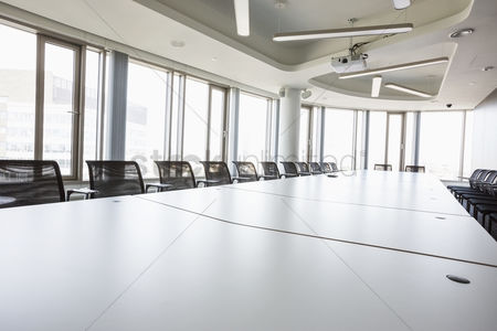Window : Interior of empty conference room in creative office