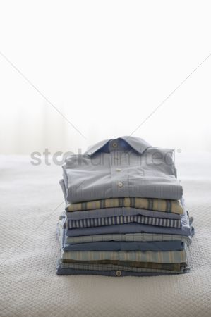 Pile : Ironed and folded shirts