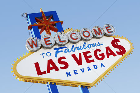 Spirit : Las vegas welcome road sign