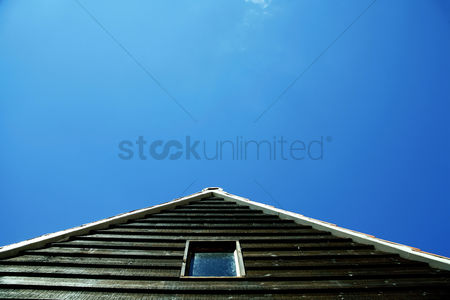 Cloud : Low angle view of a house