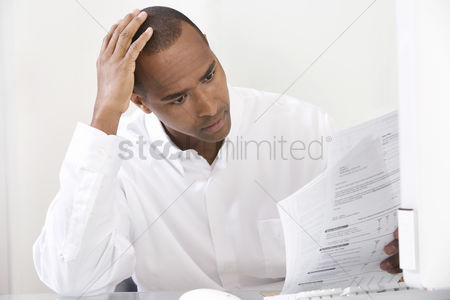 Thought : Man doing taxes