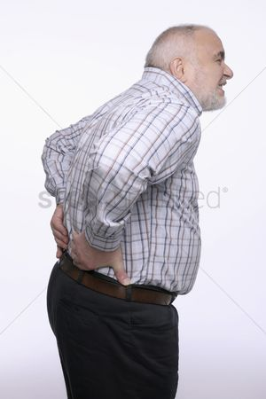 Aging process : Man having a backache