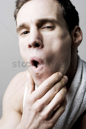 Pain : Man having toothache