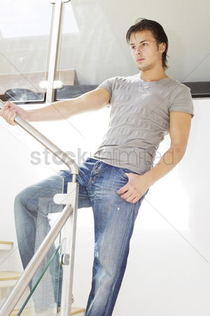 Composed : Man posing on the staircase