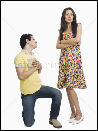 Ignorance : Man proposing to a woman
