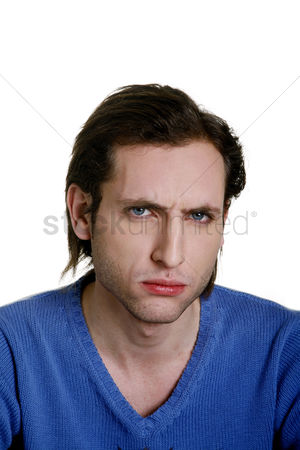 Sullen : Man showing angry face