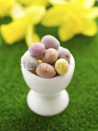 Easter : Mini eggs in egg cup