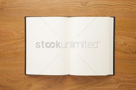Blank : Open book on desk background with copy space