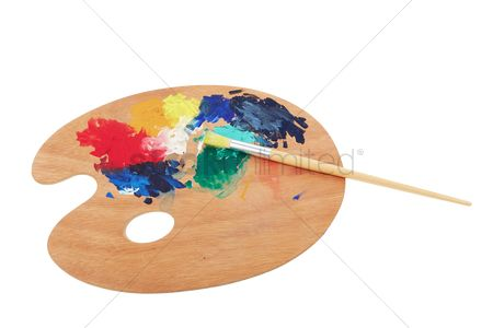Paint brush : Paint brush and wooden palette