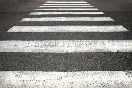 Black background : Pedestrian crossing