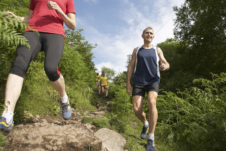 Fitness : People hiking on trail