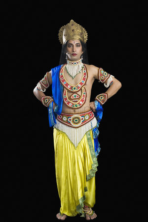 God : Portrait of a man dressed-up as rama