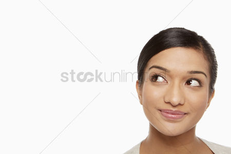 Head shot : Portrait of a woman smiling