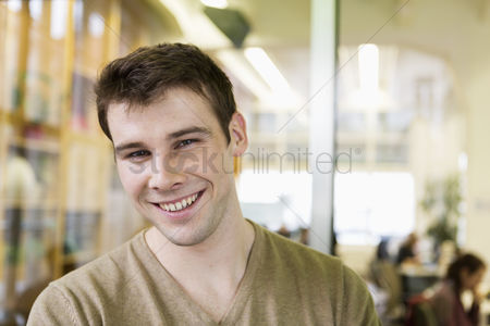 Czech republic : Portrait of handsome young businessman smiling in office