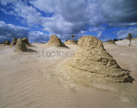 Remote : Rock formations in desert