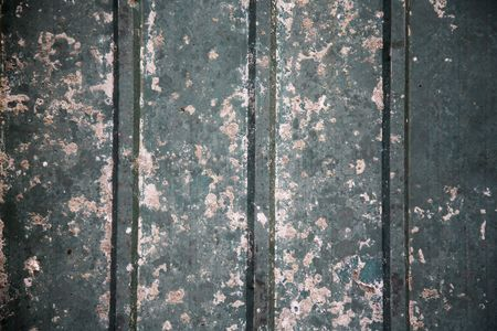 Weathered : Rusted metal