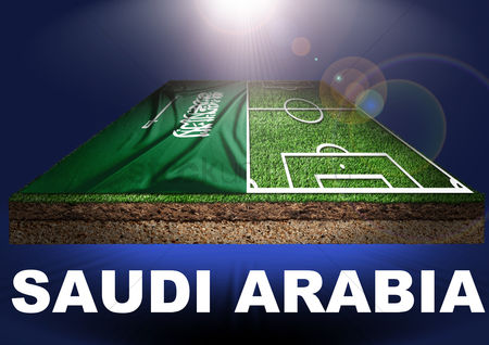 Pitch : Saudi arabia with football field