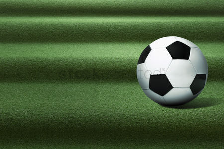 Hexagon : Soccer ball on playing field