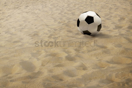 Hexagon : Soccer ball on sand