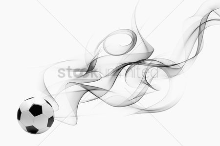 Match : Soccer ball with smoke effect