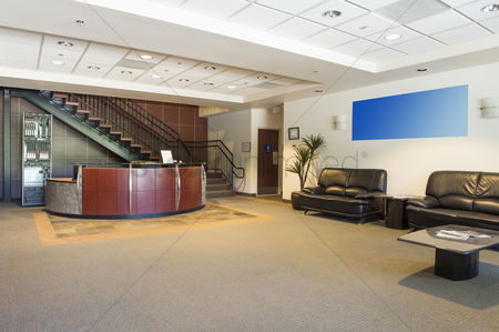 Furniture : Spacious office lobby