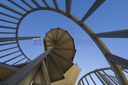 Staircase : Spiral staircase outdoors