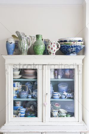 England : Storage cabinet with crockery