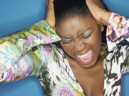 Lady : Stressed woman shouting