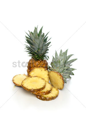 Food : Studio shot of pineapple on white background
