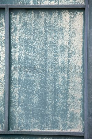 Weathered : Surface of a discolored zinc sheet