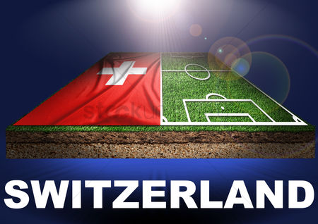 Pitch : Switzerland with football field