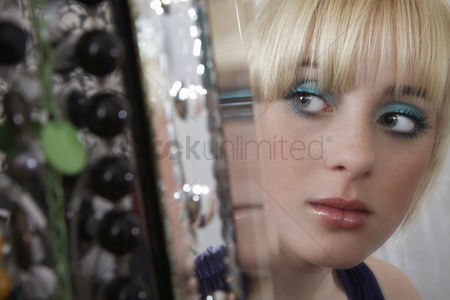 Blonde teen girl mirror god knows!